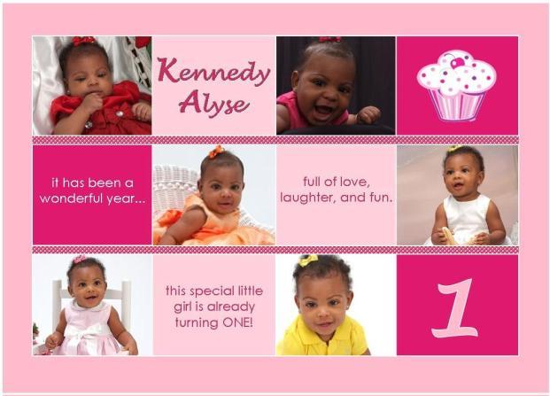 First birthday keepsake collage