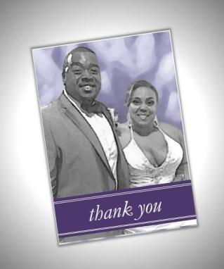 Custom photo thank-you card