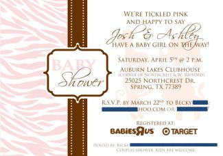 Pink and brown safari theme baby shower