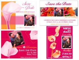 Fuchsia calla lily save the dates