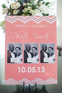 Chevron wedding photo booth sign