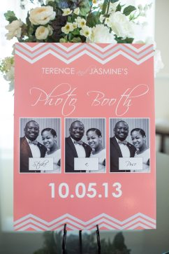 Chevron wedding photo booth sign