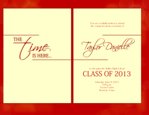 Classy simple graduation announcement