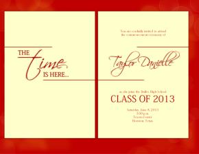 Classy simple graduation announcement