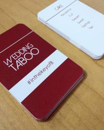Taboo wedding cards