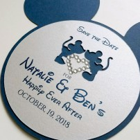 Disney-themed save the date